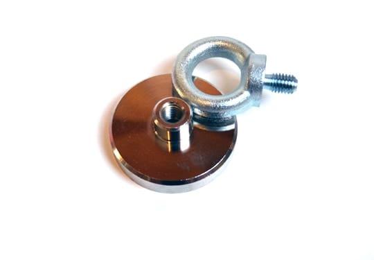 super vismagneet, magneetvissen, magneet met 75 kg trekkracht, , metaaldetectie, Neodymium, 75 KG trekkracht,